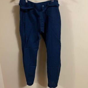 Banana Republic linen blend navy pants